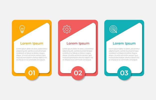 Modèle d'infographie d'entreprise de présentation avec 3 options
