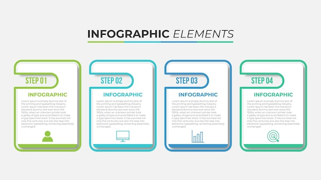 Modèle d'infographie d'entreprise de présentation avec 5 options