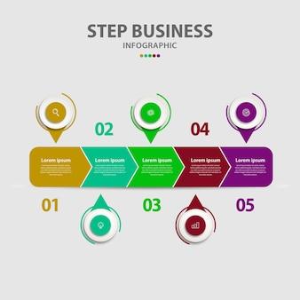 Modèle d'infographie d'entreprise de présentation moderne