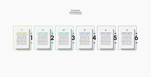 Modèle d'infographie d'entreprise de présentation