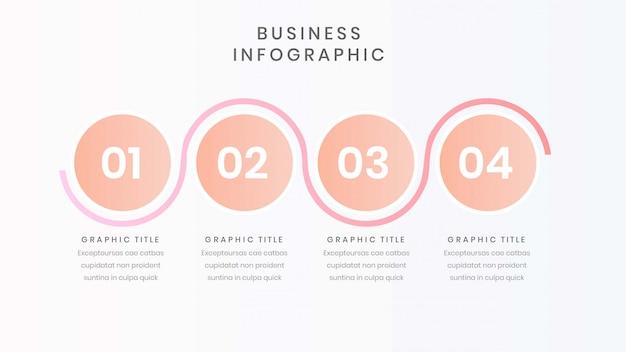 Modèle d'infographie d'entreprise avec quatre options