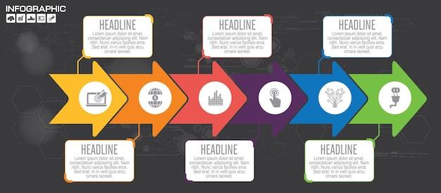 Modèle d'infographie d'entreprise. visualisation de données. peut être utilisé pour la mise en page du flux de travail, le nombre d'options, les étapes, le diagramme, le graphique, la présentation, le graphique et la conception web.