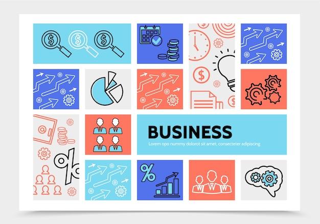 Modèle d'infographie d'entreprise