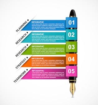Modèle d'infographie de l'entreprise.