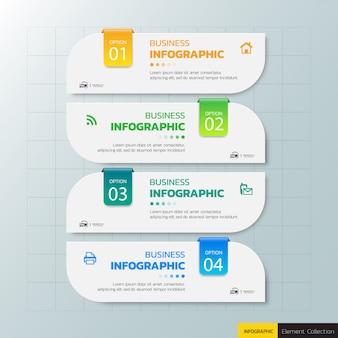 Modèle d'infographie d'étape
