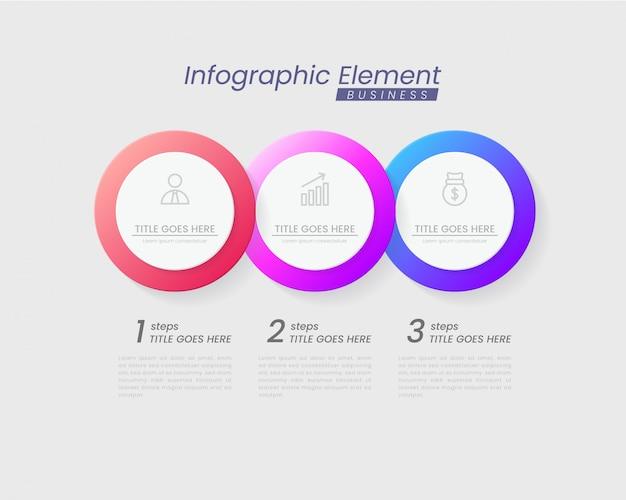 Modèle d'infographie avec des étapes pour réussir. présentation avec des icônes de ligne, modèle de processus de graphique d'élément d'organisation avec texte modifiable. options pour brochure, diagramme, flux de travail, chronologie, conception de sites web