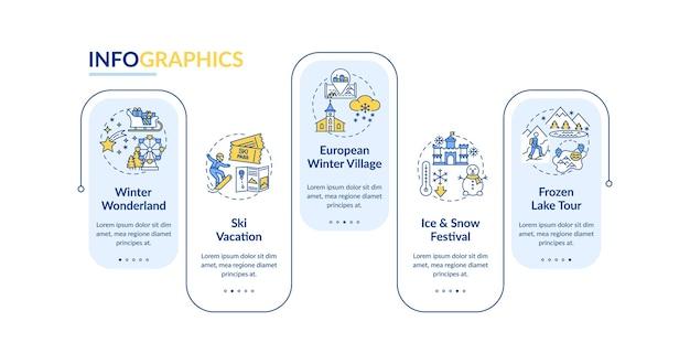 Modèle d'infographie d'évasion d'hiver