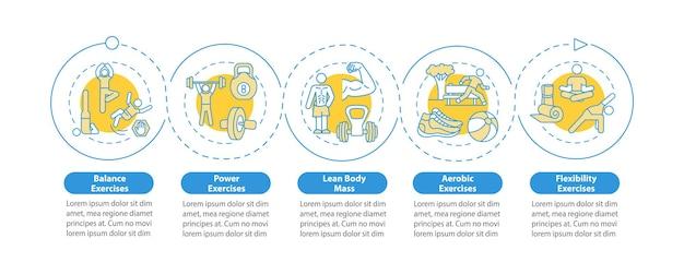 Modèle d'infographie d'exercices