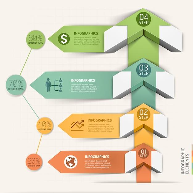 Modèle d'infographie de flèche moderne.