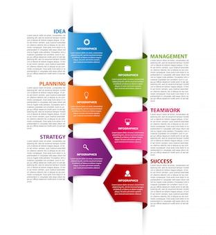 Modèle d'infographie avec des flèches
