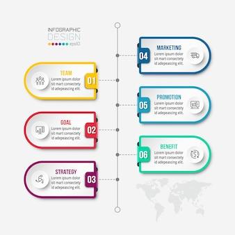Modèle d'infographie de flux de travail commercial