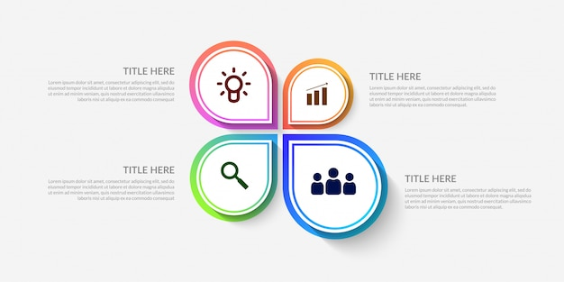 Modèle d'infographie de flux de travail moderne