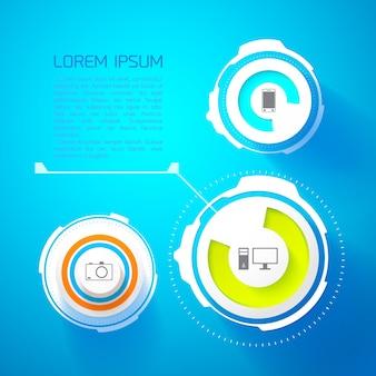 Modèle d'infographie futuriste