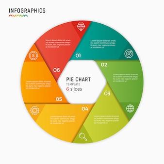 Modèle d'infographie graphique vectoriel cercle. options, étapes, pièce