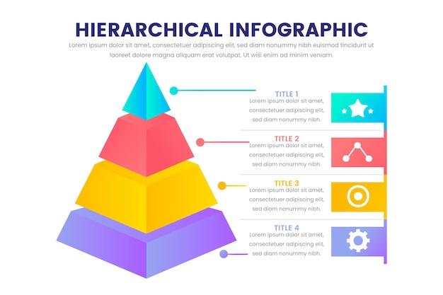 Modèle d'infographie hiérarchique