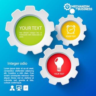 Modèle d'infographie avec des icônes de l'entreprise