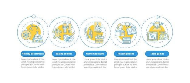 Modèle d'infographie d'idées de vacances de noël