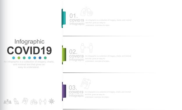 Modèle d'infographie d'informations sur l'illustration stock de covid19