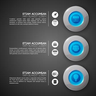 Modèle d'infographie d'interface web d'entreprise