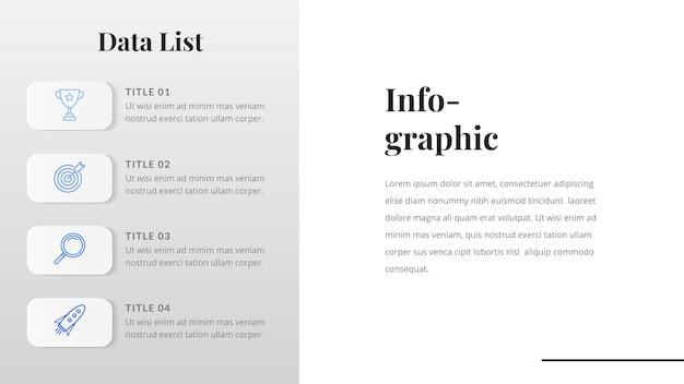 Modèle d'infographie de liste de données