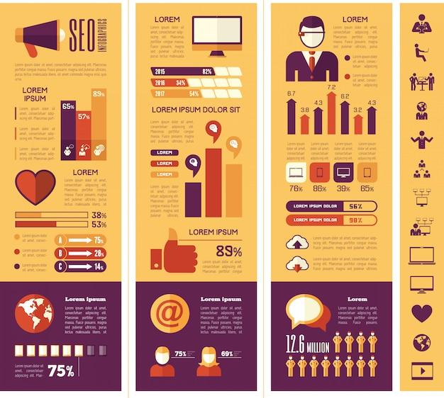 Modèle d'infographie de médias sociaux.