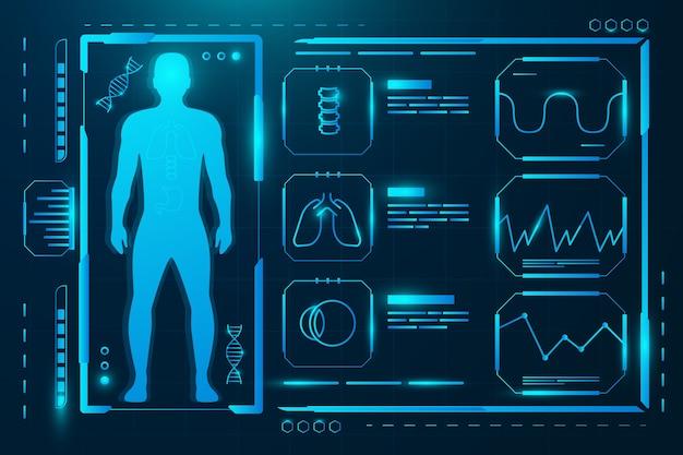 Modèle d'infographie médicale futuriste