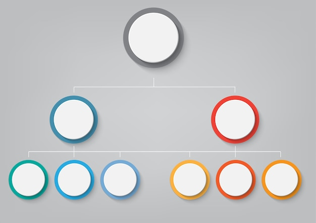 Modèle d'infographie métier avec options
