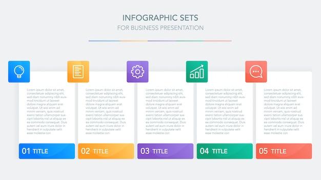 Modèle d'infographie métier pour la présentation