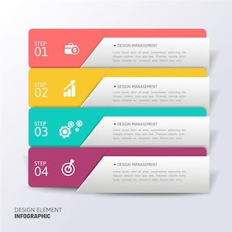 Modèle d'infographie moderne abstrait