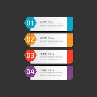 Modèle d'infographie moderne avec étapes pour les entreprises