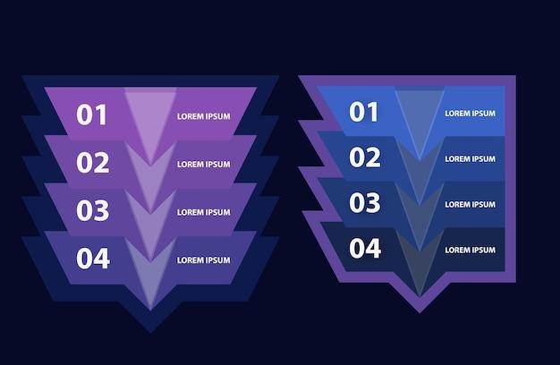 Modèle d'infographie moderne. infographie d'entreprise pour brochure, dépliant, conception de sites web. illustration vectorielle.