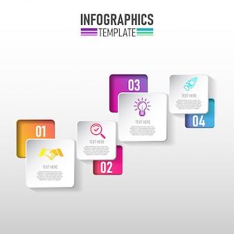 Modèle d'infographie moderne pour les entreprises