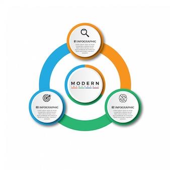 Modèle d'infographie moderne simple