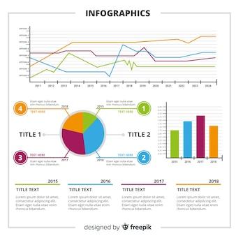 Modèle d'infographie moderne avec style coloré