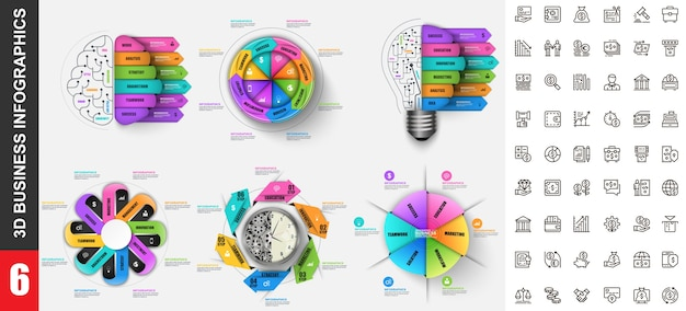 Modèle d'infographie moderne