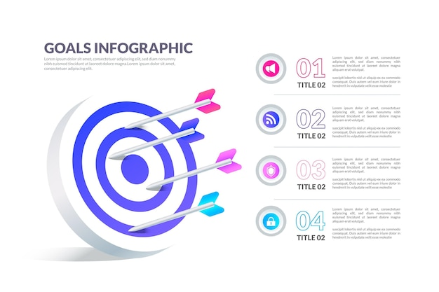 Modèle d'infographie d'objectifs