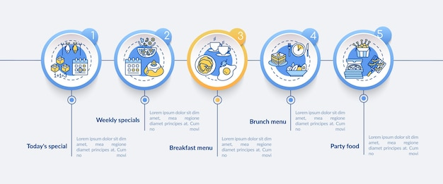 Modèle d'infographie d'offres spéciales. un repas limité traite des éléments de présentation.