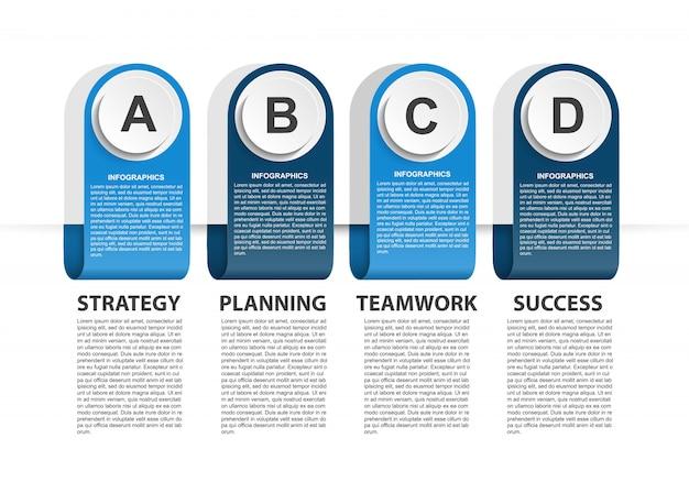 Modèle d'infographie avec option de nombres pour les présentations d'entreprises.