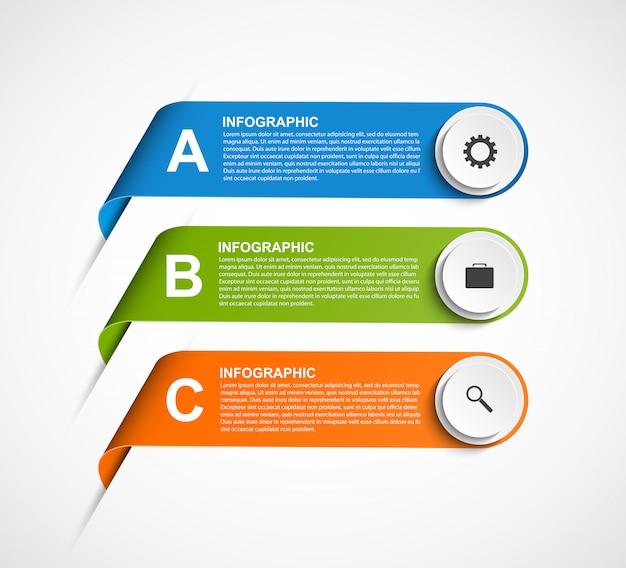 Modèle d'infographie options abstraites.