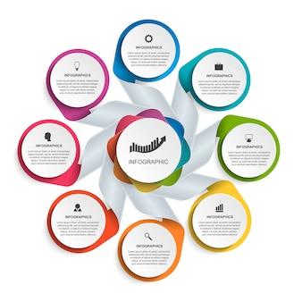 Modèle d'infographie options abstraites
