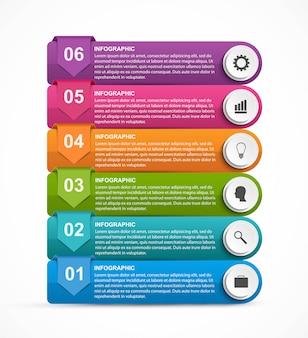 Modèle d'infographie d'options abstraites.