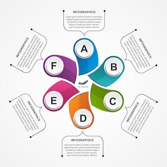 Modèle d'infographie d'options abstraites