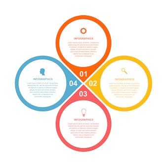 Modèle d'infographie d'options d'affaires plat simple.