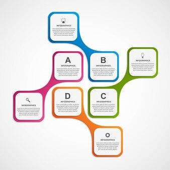 Modèle d'infographie d'options commerciales abstraites.