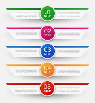 Modèle d'infographie avec options, étapes ou processus