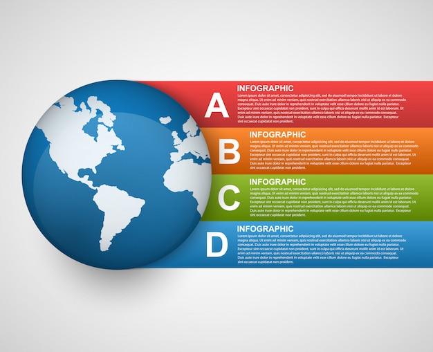 Modèle d'infographie d'options globales modernes.