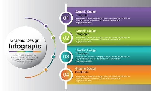Modèle d'infographie avec des options et des icônes colorées illustration stock vectorielle espagne infographie