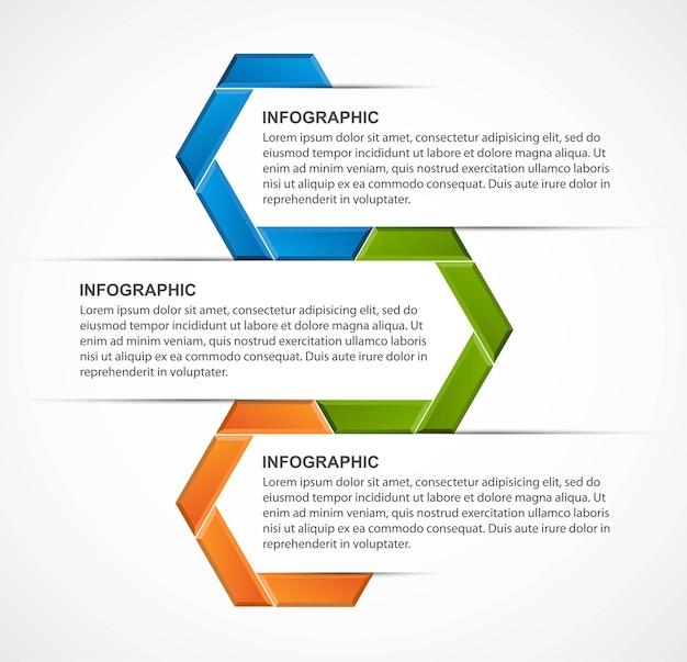 Modèle d'infographie d'options infographie