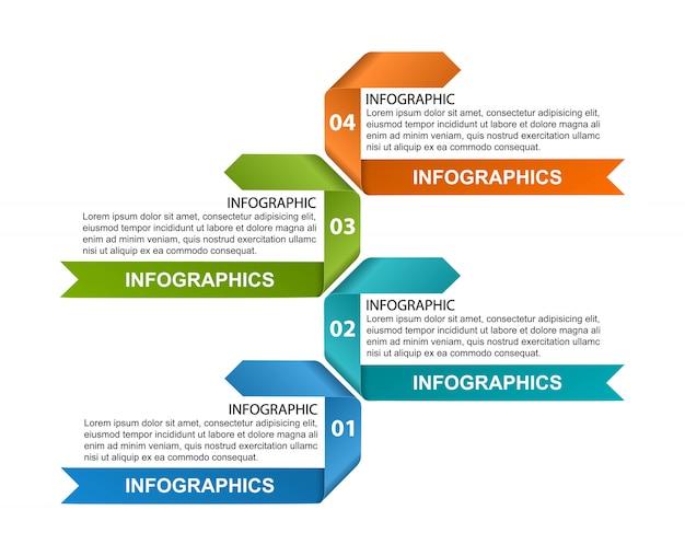 Modèle d'infographie d'options.