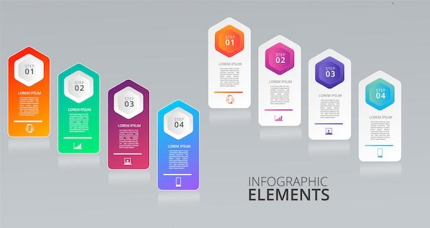 Modèle d'infographie pour les éléments de l'entreprise